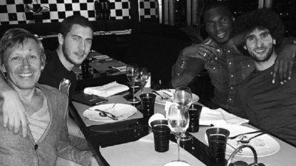 Eden Hazard viert zijn nieuw contract in goed gezelschap