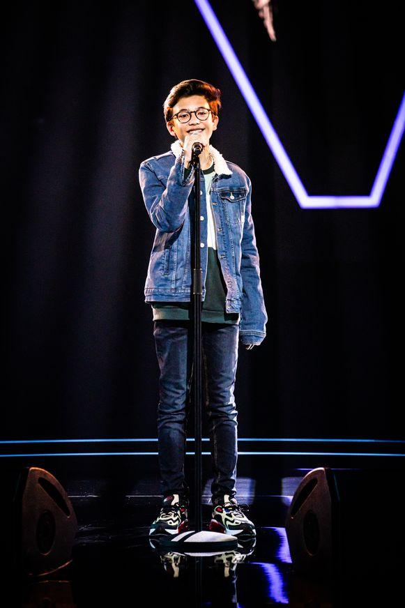 Justin Degryse treedt vrijdag aan in de vierde aflevering van The Voice Kids.