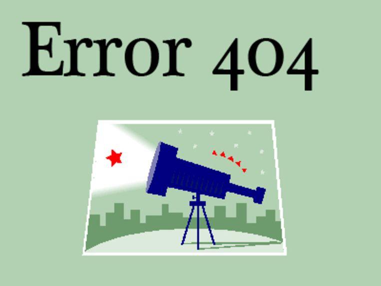 Error 404 is een blog over technologie, internet en nieuwe media. Beeld