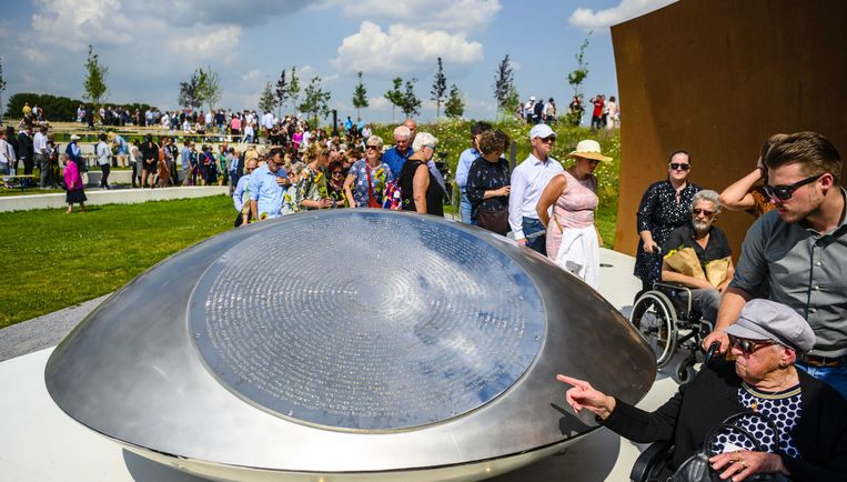 Het MH17-monument in Vijfhuizen. Beeld ANP