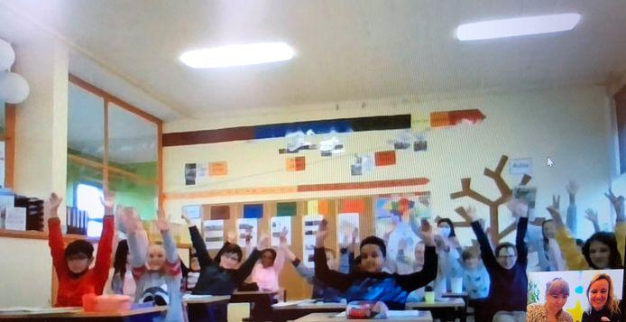 Het vijfde leerjaar van 't Vlasbloempje is trots op de nominatie.