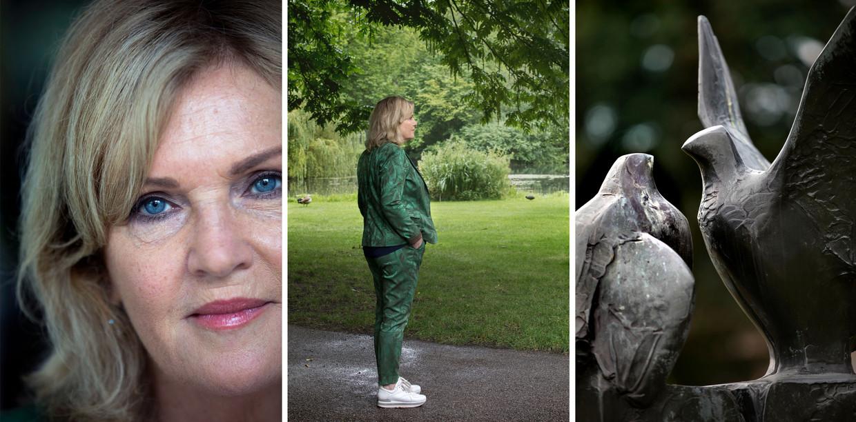 Pia Dijkstra, Tweede Kamerlid D66: 'Het Beeld de twee duiven van Janko Berman symboliseert voor mij keuzevrijheid'.