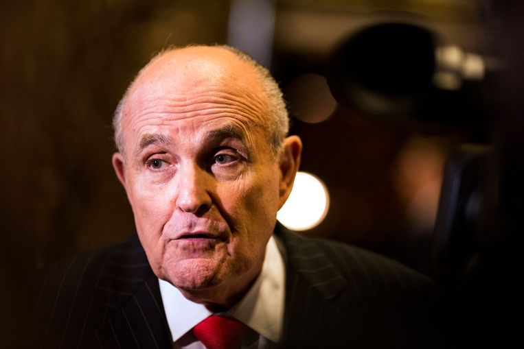 Rudy Giuliani, de persoonlijke advocaat van Trump. Beeld EPA