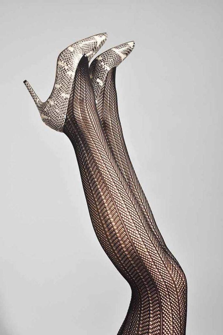 Deze panty is gemaakt van gerecycled garen Beeld Swedish Stockings