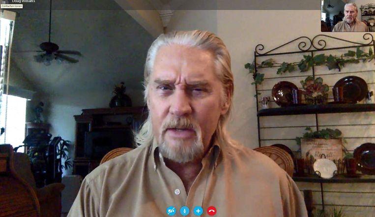 Doug Williams tijdens het Skypegesprek Beeld null