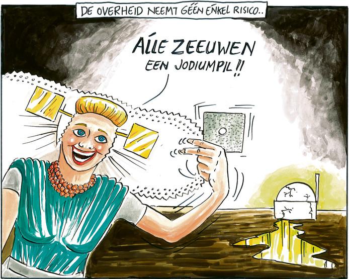 Over de verstrekking van jodiumpillen voor het geval van een kernramp in Borssele.
