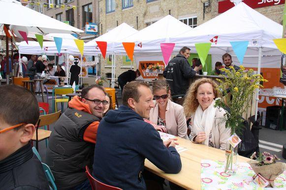 Een sfeerbeeld van de Fairtrade picknick tijdens één van de voorbije edities van de boter- en kaasfeesten
