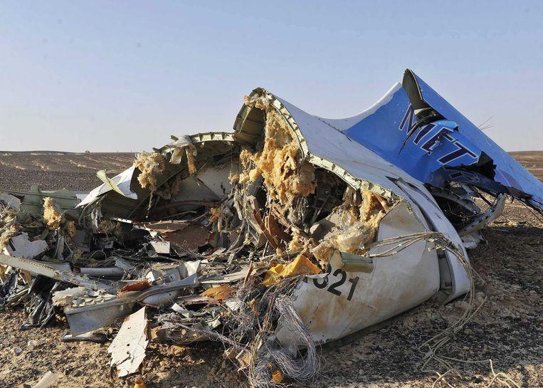 Wrakstukken van het gecrashte vliegtuig. Beeld epa