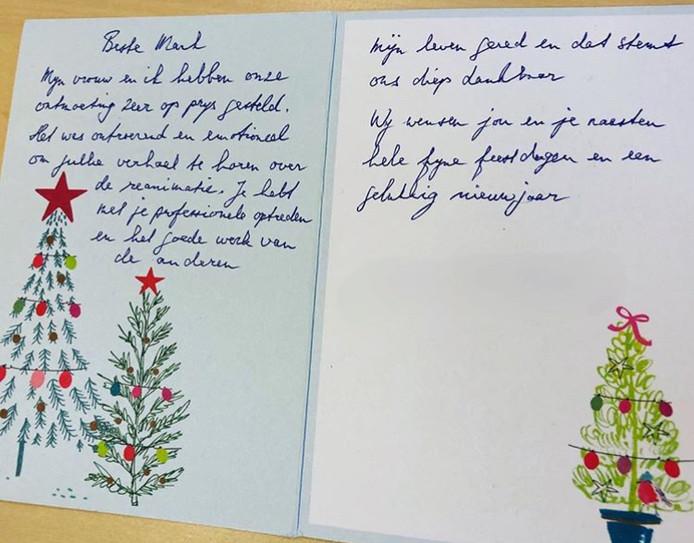 Een bijzondere kerstkaart voor wijkagent Mark den Hartog.