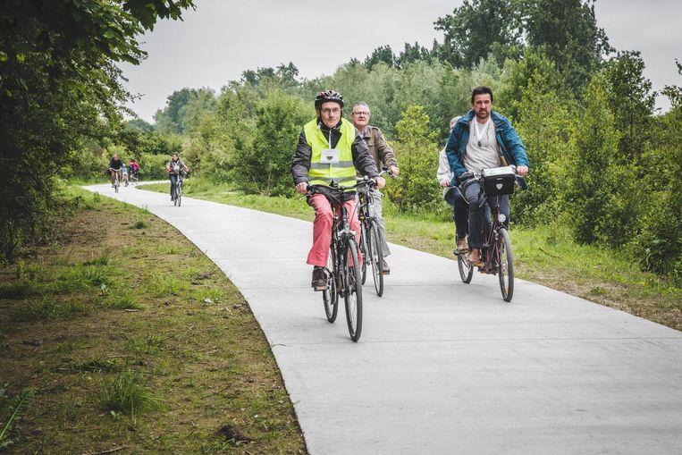 Mooi en veilig fietsen op het nieuwe pad.
