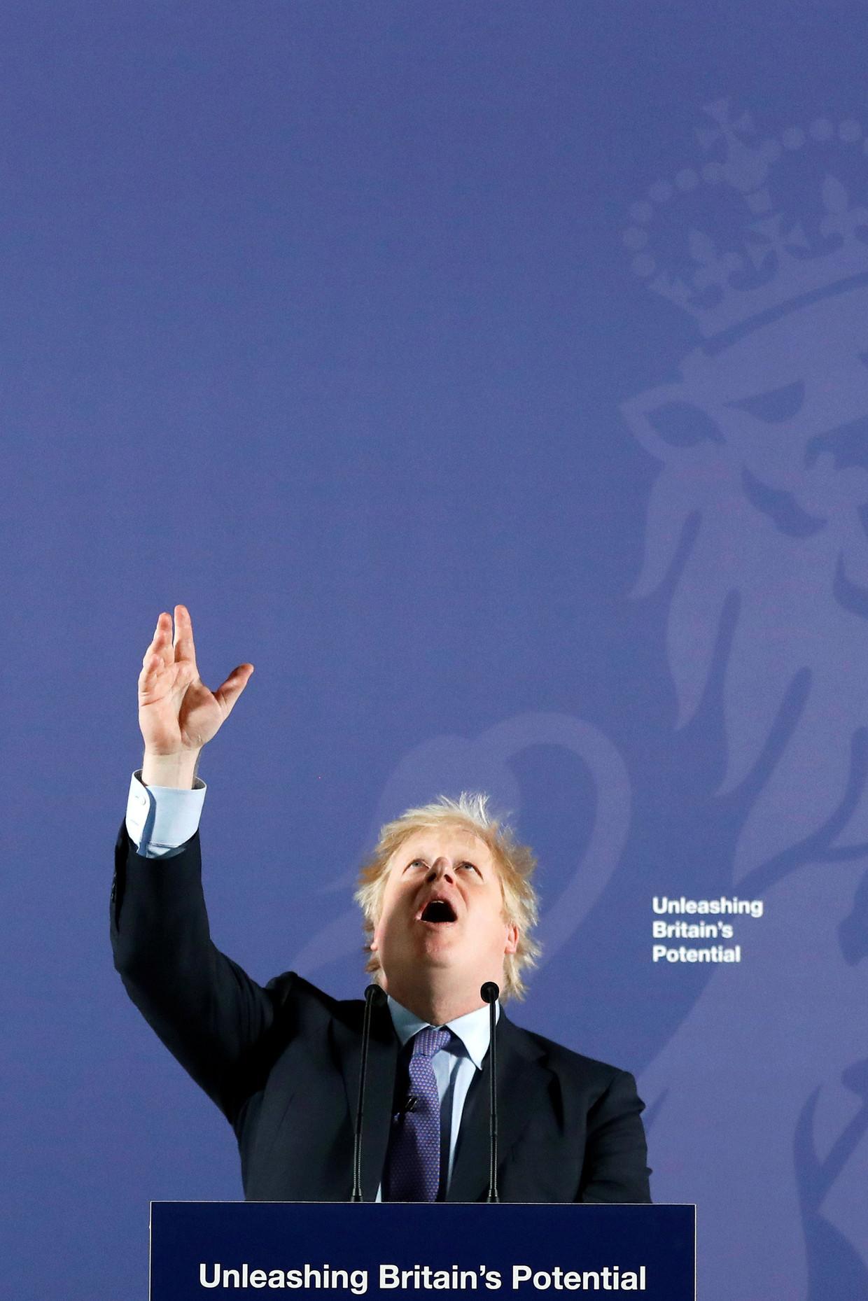 Premier Boris Johnson zei maandag in een toespraak dat het Verenigd Koninkrijk het desnoods zónder handelsakkoord met de EU zal doen.