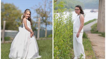 """Jouw communie- en lentefeestoutfit toch in de krant? Xinne (7) en Mirthe (12) schitteren alvast voor onze lens: """"We hebben een prinsessenjurk gekocht in Spanje"""""""