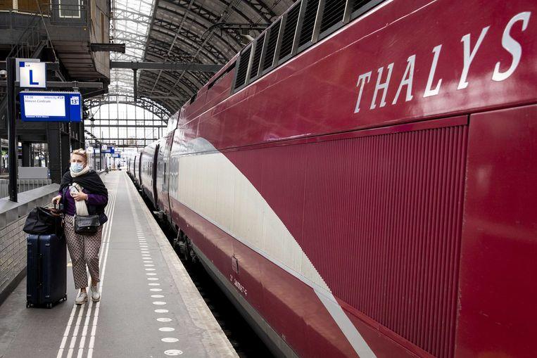 De hogesnelheidstrein Thalys rijdt van Amsterdam naar Parijs en vice versa. Beeld ANP