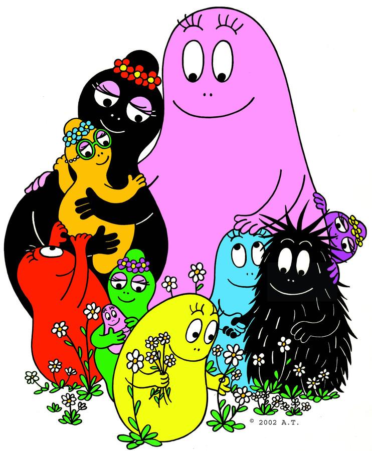 De tekenfilmfiguur Barbapapa.