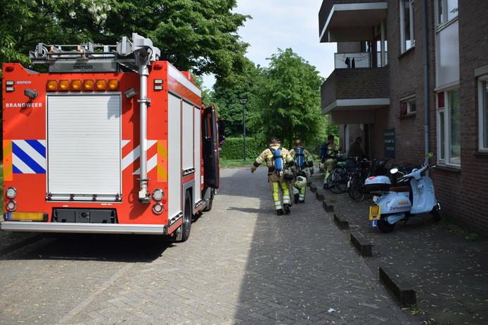 De brandweer heeft de woning aan de Stieltjesstraat geventileerd.