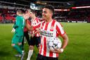 Donyell Malen, die afgelopen weekend vijf keer scoorde tegen Vitesse, deed ervaring op in de Eerste Divisie.