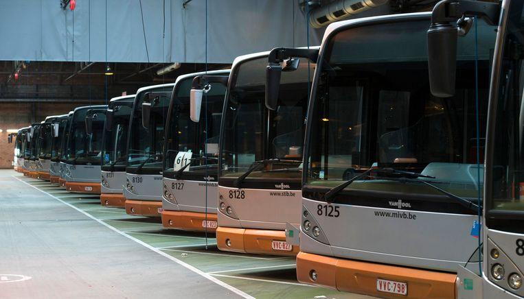 Meer dan een derde van de MIVB-bussen is uitgereden.
