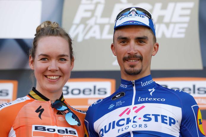 Anna van der Breggen en Julian Alaphilippe wonnen vorig jaar in de Waalse Pijl.