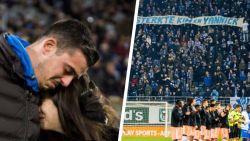 """Minuut lang applaus voor Gent-keeper Thoelen en zijn vrouw Kim na verlies dochtertje: """"Lia is nu dicht bij ons, in ons hart"""""""