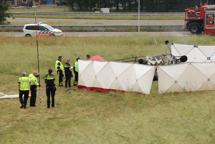 De crash van mei 2018, waarbij een piloot uit Goes om het leven kwam.