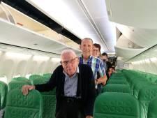 95-jarige Wim maakt eerste vliegreis: 'Het was uit de kunst!'