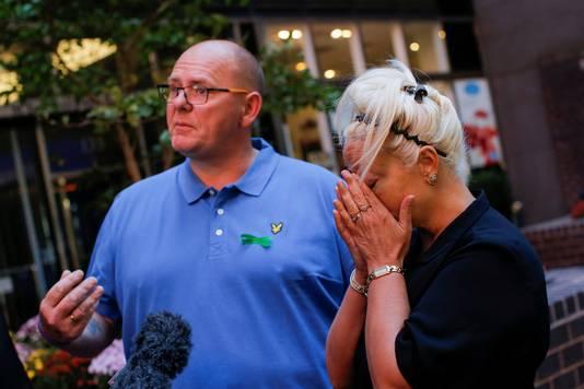 Tim Dunn en Charlotte Charles, de ouders van Harry Dunn.