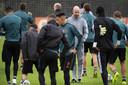 Ajax op de laatste training voorafgaand aan het Champions League-duel met Chelsea.