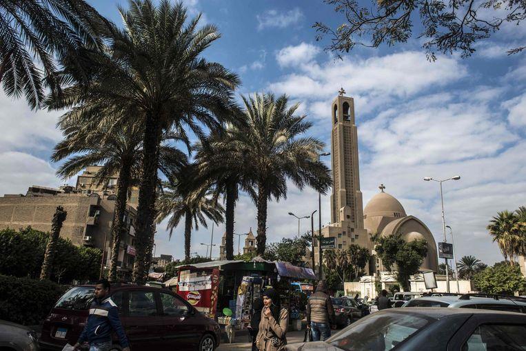 Koptische Kathedraal in Cairo Beeld afp