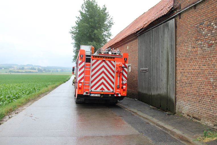 De brandweer rukte uit voor een kleine brand.
