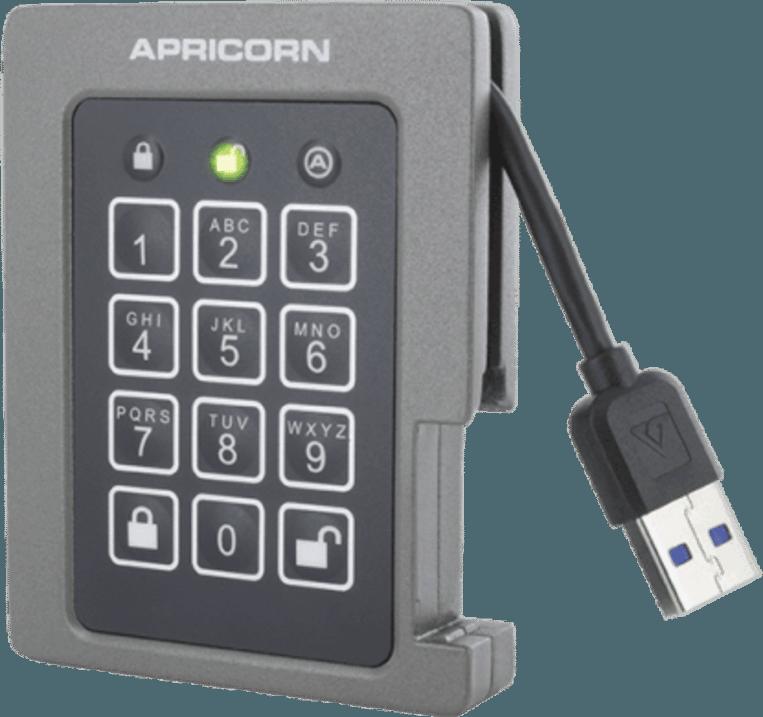 Deze handige SSD kun je afsluiten met een cijferslot.