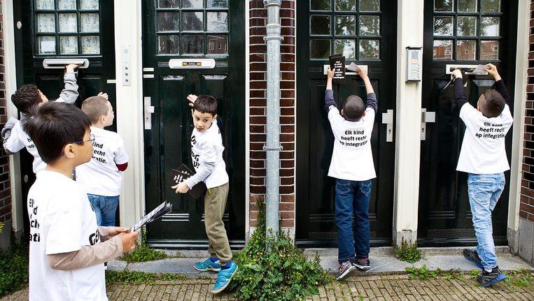 IN 2015 voerde een basisschool in Amsterdam actie om meer witte leerlingen te trekken. Beeld Io Cooman