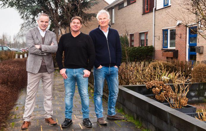 Vlnr: Alex van Keulen, Martijn Krabbé en Bob Sikkes van Kopen Zonder Kijken.