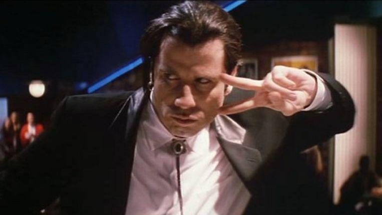 John Travolta in Pulp Fiction. Beeld .