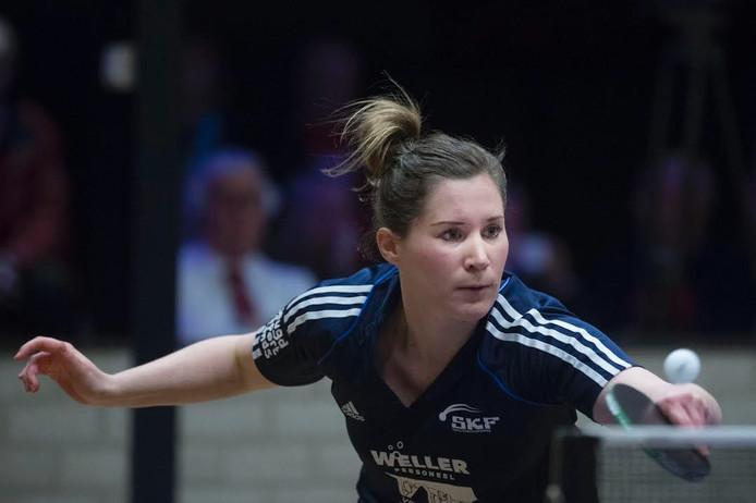Carla Nouwen in actie voor SKF.