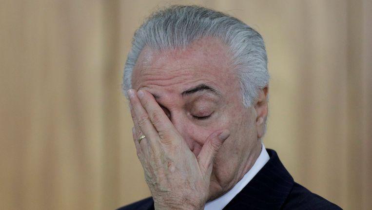 De Braziliaanse president Michel Temer kan worden afgezet.