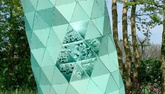 Maquette voor kunstwerk Ouwe Sok voor Roosendaal 750 jaar
