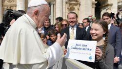 Greta kan zelfs de paus overtuigen