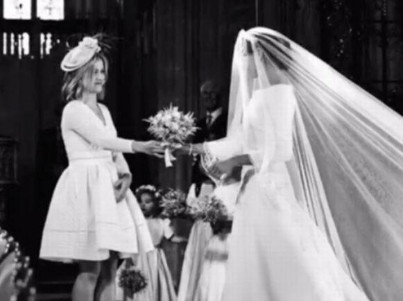 Clara gaf Meghan haar huwelijksboeket.