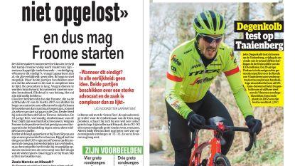 """""""Vóór Giro is zaak niet opgelost"""" en dus mag Froome starten"""
