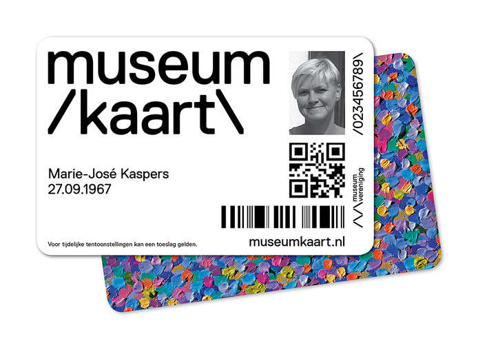 Een fictief exemplaar van de museumkaart.