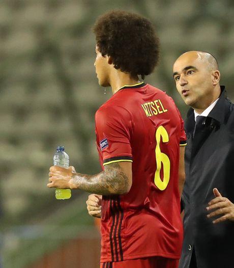 """Roberto Martinez croise les doigts: """"Axel Witsel est très fort, avec un état d'esprit positif"""""""