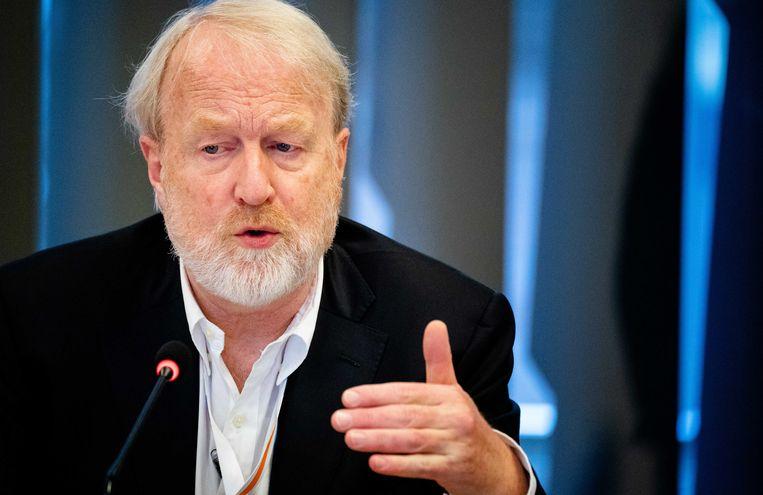 Jaap van Dissel (directeur van het Centrum Infectieziektebestrijding, RIVM) tijdens de briefing door het Rijksinstituut voor Volksgezondheid en Milieu (RIVM) over de nieuwe ontwikkelingen met betrekking tot het coronavirus.  Beeld ANP / Bart Maat