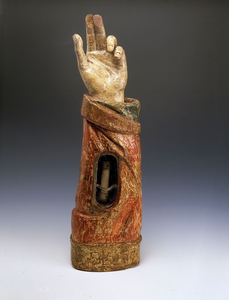 Armreliek van de heilige Lucia, Maasland ca. 1510 Beeld