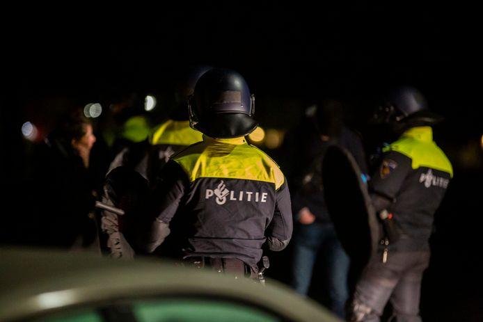 Er was veel politie aanwezig in Roosendaal.