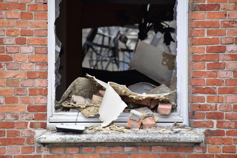 De schade aan de woning van Gisèle Seynaeve is enorm. Letterlijk alles werd weggeblazen.