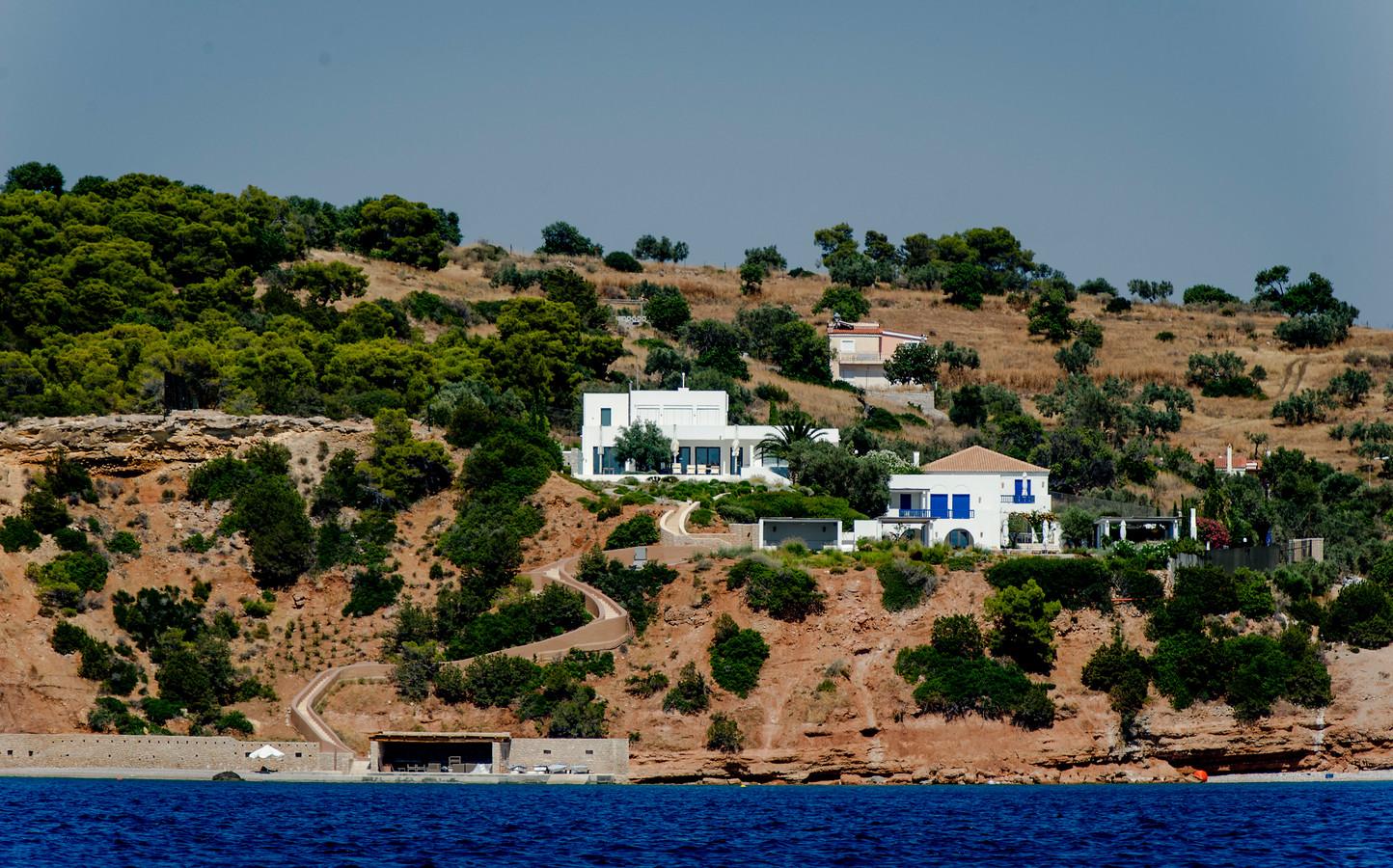 Het vakantiehuis van koning Willem-Alexander en koningin Maxima in de Zuid-Griekse plaats Kranidi.