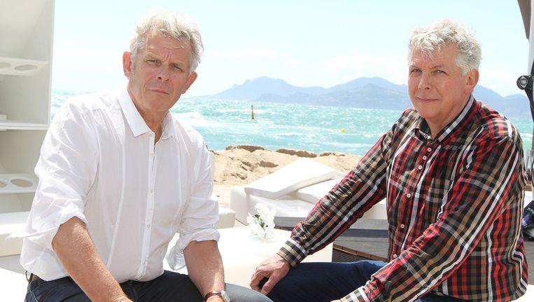 Regisseur Alex van Warmerdam (L) en producent Marc van Warmerdam Beeld ANP
