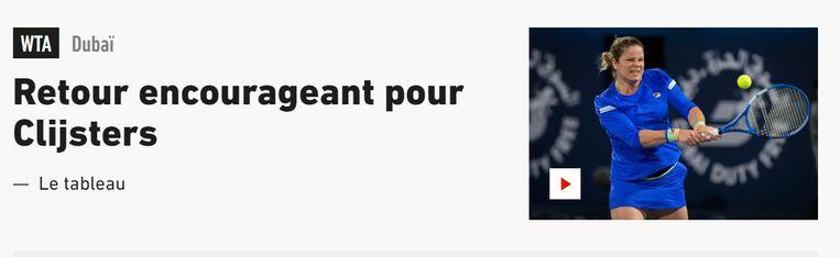 Clijsters in L'Equipe.