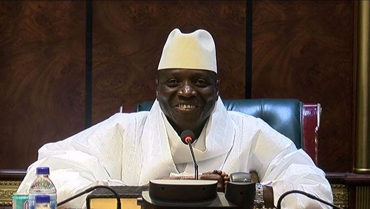 De voormalige president van Gambia Yahya Jammeh Beeld null