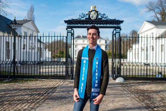 Jochem Smits (18) behaalde met zijn GSA-project de finale van Mister Gay Belgium 2019.